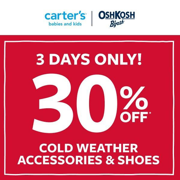 Carter's | OshKosh B'gosh: WEEKEND WOW - 3-DAYS ONLY!