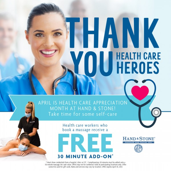 Hand & Stone Massage and Facial Spa: Thank You Health Care Heroes!