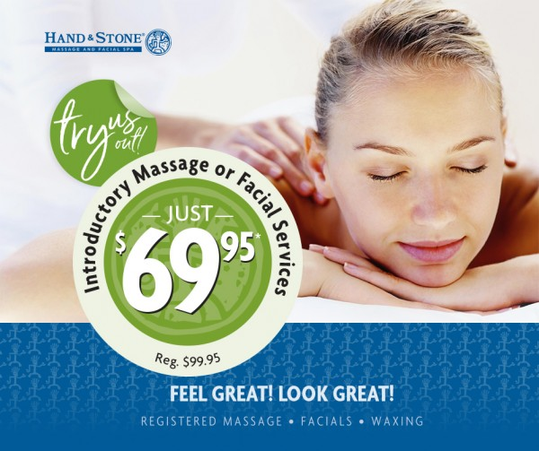 Hand & Stone Massage and Facial Spa: Try a Massage or a Facial for Only $69.95!!!